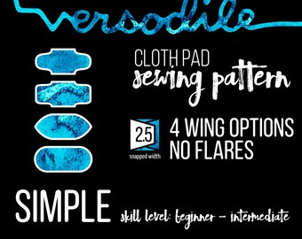 Wings ONLY Add-On | Simple | Cloth Pad Sewing Patterns | 4 wing options | Interchangeable