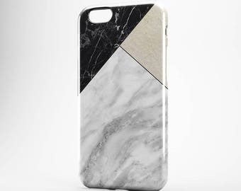 White Marble iPhone 7 Tile iPhone 6 Case Black Marble Galaxy Case iPhone 5S Cover iPhone 7 Plus Case iPhone 4-5 Case iPhone SE Cover Xperia