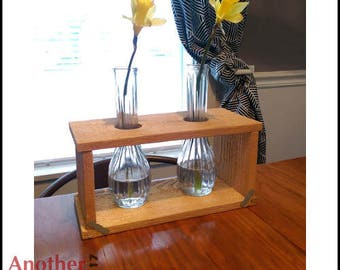 Cedar Flower Vase Holder Centerpiece