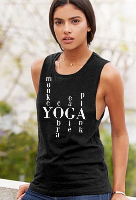 Yoga Words Muscle Tee
