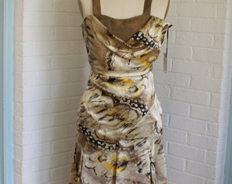 Brown Dress By Ellie Day Collection