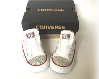 Rhinestone Converse, Kids Rhinestone Converse, Kids Bling Shoes, Bling Converse, Ribbon Laces