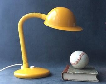 Vintage - Yellow lamp - mid century desk lamp desk lamp