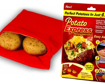 Potato Express Cooking Bag - Microwave Perfectly Baked Potatoes in 4 minutes!