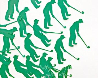 Golfer Die Cuts, Golfer Confetti, Golfers Die Cuts, Golfers Confetti, Golfing Die Cut, Golfer Silhouette, Retirement Die Cuts, 20 Ct.
