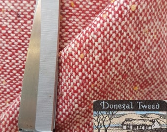 Heavy Donegal wool coat fabric ,material ideal for coats and suits with label