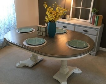 SOLD Double Pedestal Dining Table