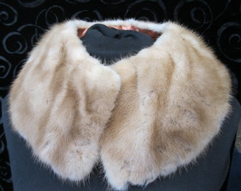 Blond Mink Neck warmer, Vintage Mink Collar