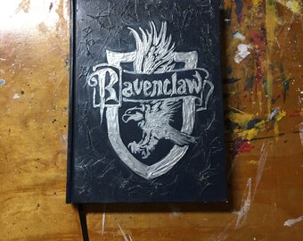 Ravenclaw Notebook Harry Potter Notebook Handpainted Ravenclaw House Hogwarts Notebook Harry Potter