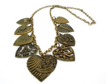 Vintage Heart Charm Necklace