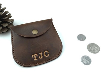 Coin purse, stamped coin pouch, leather earphone case, small coin purse, earbud organizer, coin wallets, change purses, designer, LT575