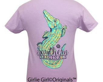 Girlie Girl Originals Watercolor Alligator Orchid Short Sleeve T-Shirt