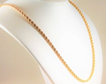 14k Yellow Gold, 3.5mm, 22 Inch Rope Chain