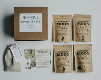 Expecting Mom Gift, Baby Shower gift, Herbal trimester teas, nursing tea and post partum healing bath
