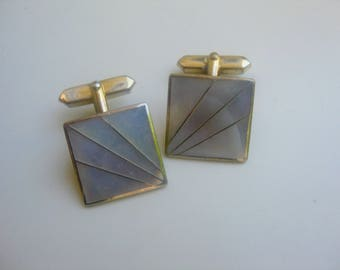 Org. 50 he j. cufflinks with mother of Pearl
