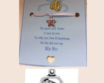 personalised wedding day good luck charm bride groom husband wife gift present card poem