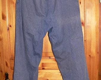 vintage  1950s blue denim german working pants size EU 52