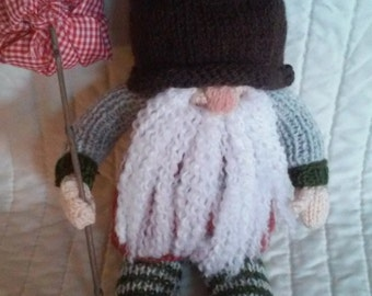Hand Knitted Ghome Doll, Decorator item.