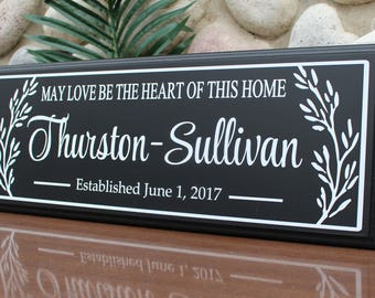 Blended family wedding gift-family name sign-established blended family Sign-Last Name Sign-family wall Sign-Established Sign-family gift