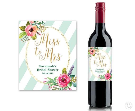 Bridal Shower Wine Labels Printable Wine Bottle Label – Wine Bottle Labels Template