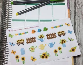 Sunflower Garden Decorative Stickers