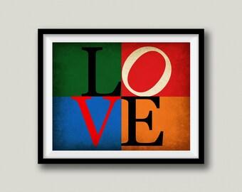 Philadelphia Sports Love Sign Printable Art, Instant Download