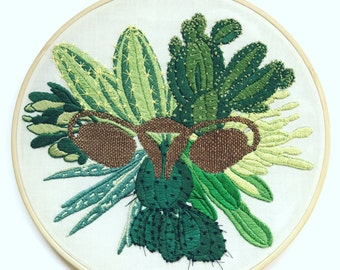 Cactus Big Swinging Ovaries Hand-embroidery