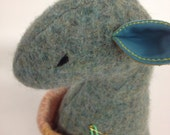 "ONE-OF-A-KIND Reclaimed Felted Wool Stuffed Animal / ""Woolies"" Handmade Toy / Recycled Repurposed Materials Plush Doll"