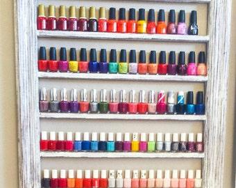 items similar to nail polish organizer rack wrought iron