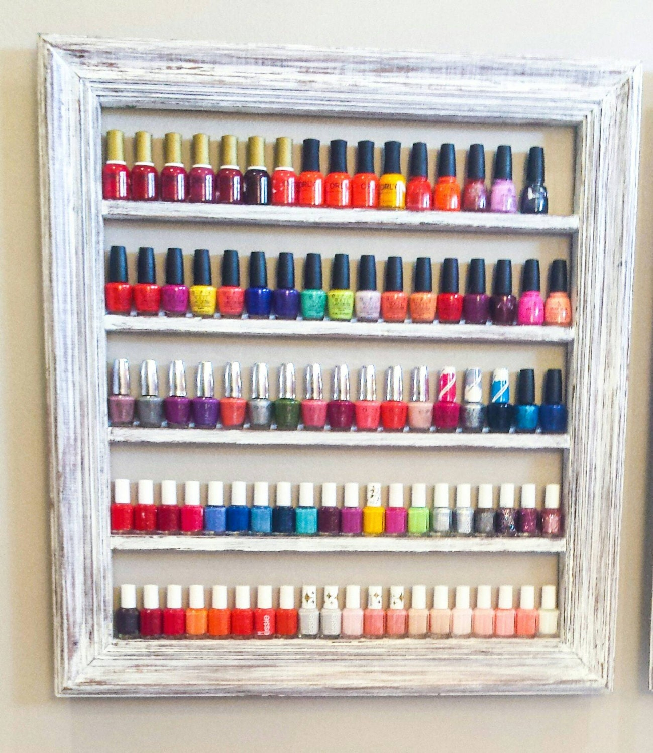 Nail Polish Rack Nail Polish Organizer Nail Polish Shelf
