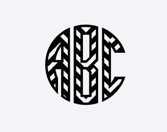 Chevron Circle Monogram