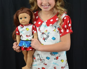 Cat in the Hat Doll dress