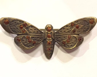 Antique Art Deco Moth Butterfly Pin