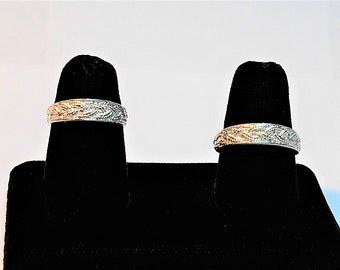 Silver Wedding Set, Sterling Silver Wedding Set, Silver Wedding Band's, Sterling Silver Wedding Band's