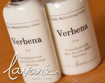 Verbena Lotion, Body Lotion, Hand Lotion, Aloe Vera Lotion, Natural Lotion, Floral Lotion, Homemade Lotion, Daily Moisturizing Lotion