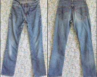 Womens stretch high waist levi jeans 27 inch waist