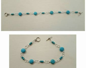 Turquoise bracelet, turquoise jewelry, silver bracelet, silver jewelry, gifts for her, valentines gift, birthday gift, December birthstone