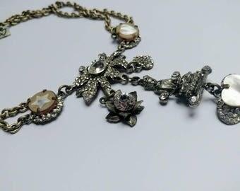 Vintage Otazu statement necklace sparkling boedha