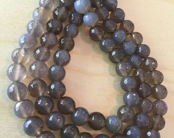 Grey Agate Beads 10mm