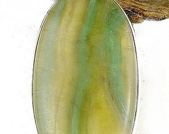 PENDANT MULTI-FLUORITE silver jewelry, natural stone jewelry, multifluorit, av4.2
