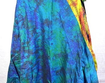 SKIRT big size 38 / 50 pure black fuschia silk maxi skirt hippie chic bobo baba cool wrap skirt one size bjt25 medieval Bohemia