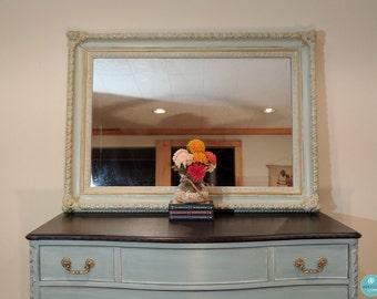 Mirror - Wall Mirror - Lt Blue, Gold - Ornate