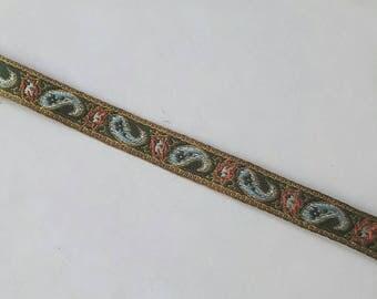 Handmade Paisley Ribbon Choker