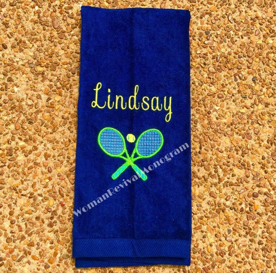 Tennis Gifts Monogrammed Tennis Towel Personalized Tennis