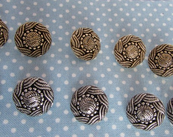 Gold and Silver Turks Head Buttons