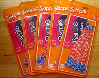 Vintage Skipper Best Buy #2233 red white blue Jumpsuit 5 pc. NRFP Barbie clothes lot
