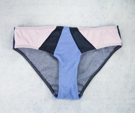 SMALL - ISA Hipster cut , unique, upcycle and handmade panties