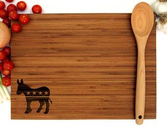 Democrat Cutting Board, Democrat Donkey Cutting Board, Wedding Gift, Custom Cutting Boards, Personalized Cutting Boards