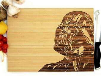 Star Wars Cutting Board, 8 x 12 inches, Darth Vader Cutting Board, Cutting Board, Anniversary Gift, Wedding Gift, Groomsmen Gift, Chef Gift