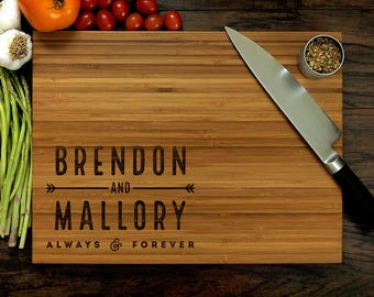 Personalized Cutting Board, Custom Cutting Board, Personalized Wedding Gift, Mr and Mrs, Personalized Engagement Gift, Anniversary Gift